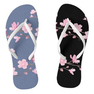 Cherry Blossom - Denim Blue Flip Flops