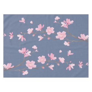 Cherry Blossom - Denim Blue Tablecloth