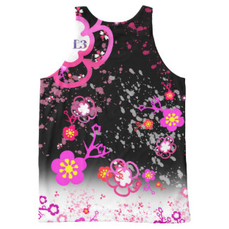 Cherry blossom design 6 All-Over print tank top