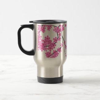 Cherry Blossom Design Travel Beverage Mug