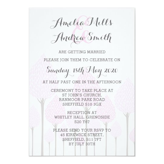 Cherry Blossom Design Wedding Invitation