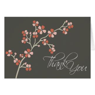 Cherry Blossom Designer Thank You Card (salmon)