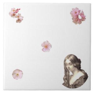 Cherry Blossom Dreams Trivet Large Square Tile