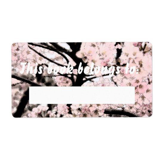 Cherry Blossom Edited Booklabel
