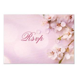 Cherry Blossom Elegant RSVP Cards For Wedding