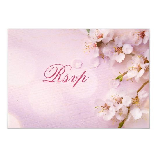 Cherry Blossom Elegant RSVP Cards For Wedding