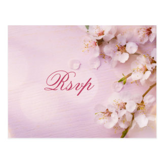 Cherry Blossom Elegant Wedding RSVP Postcards