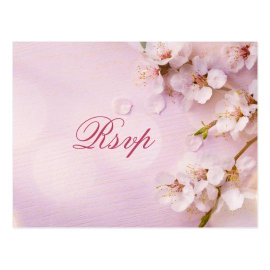 Cherry Blossom Elegant Wedding RSVP Postcards