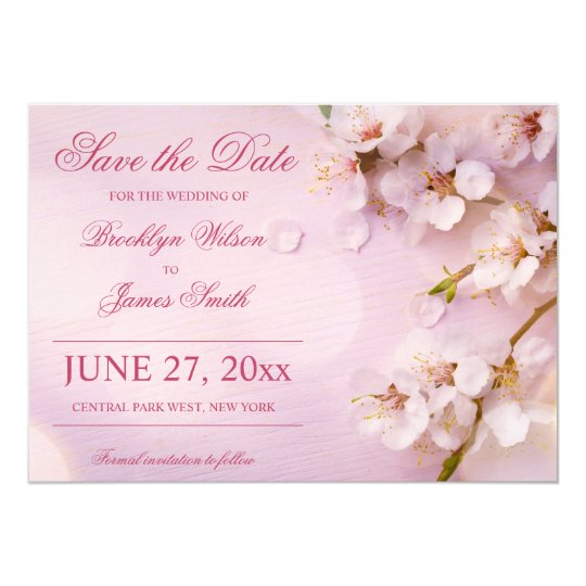 Cherry Blossom Elegant Wedding Save The Date Cards