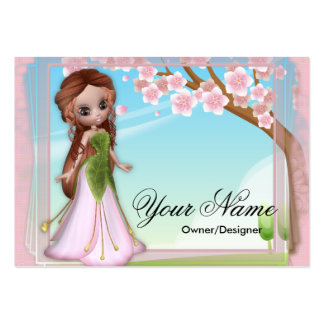 Cherry Blossom Fairy 2 Fantasy Business Cards