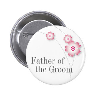 Cherry Blossom Father of the Groom Button