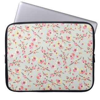Cherry Blossom Floral Laptop Sleeves