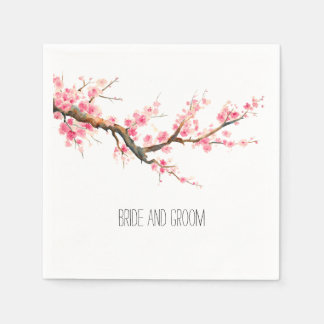 Cherry Blossom Flowers Disposable Napkin