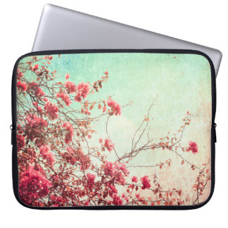 """Cherry Blossom Flowers Floral Red 15"""" Laptop Case Laptop Sleeve"""