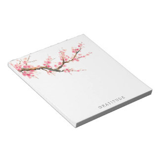 Cherry Blossom Flowers Gratitude Notepad