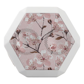 Cherry Blossom Flowers Pattern White Boombot Rex Bluetooth Speaker