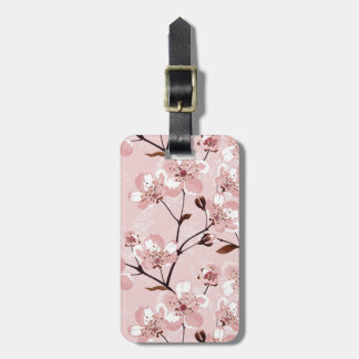 Cherry Blossom Flowers Pattern Luggage Tag