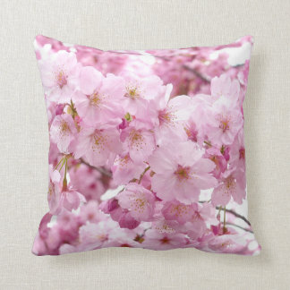 Cherry Blossom Flowers Throw Pillow Cushions