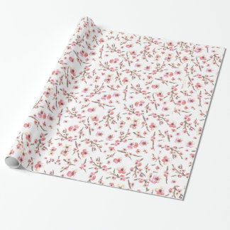 Cherry Blossom Flowers Wrapping Paper