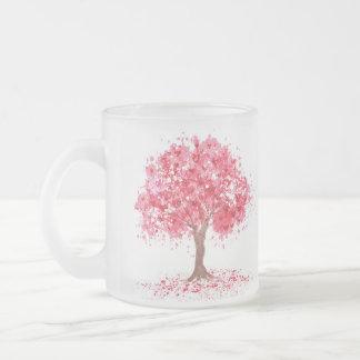Cherry Blossom Frosted Glass Mug