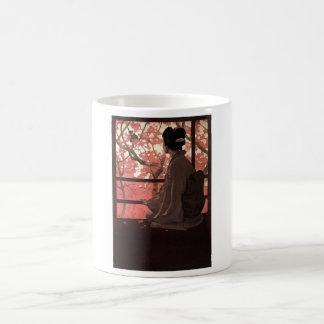 CHERRY BLOSSOM GEISHA COFFEE MUG