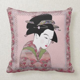 Cherry Blossom Geisha Cushion