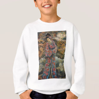 Cherry Blossom Geisha, Fine Art Products Sweatshirt