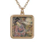 Cherry Blossom Geisha, Gold Necklace