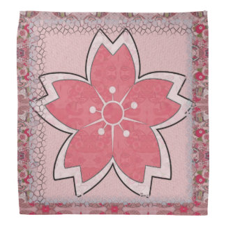 Cherry Blossom Geisha Head Kerchiefs