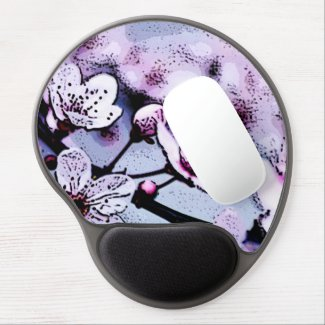 Cherry blossom gel mouse mat