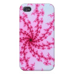 Cherry Blossom - Gentle Pink Fractal Swirls iPhone 4/4S Cover