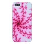 Cherry Blossom - Gentle Pink Fractal Swirls Covers For iPhone 5