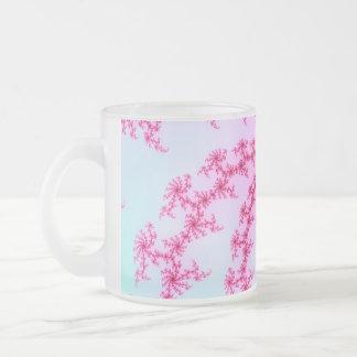 Cherry Blossom - Gentle Pink Fractal Swirls Mugs