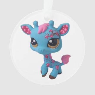 Cherry Blossom Giraffe Ornament