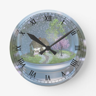 Cherry Blossom Globe Clock