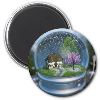 Cherry Blossom Globe Magnet