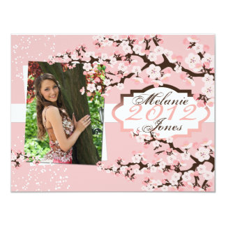 Cherry Blossom Grad Announcement & Invitation 2012