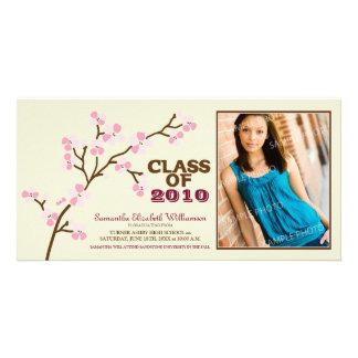 Cherry Blossom Graduation Announcement (pink) Photo Cards