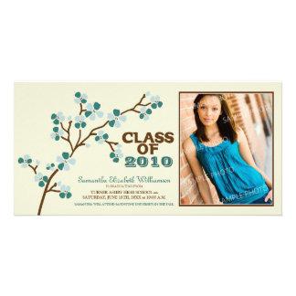 Cherry Blossom Graduation Announcement (sage) Photo Cards