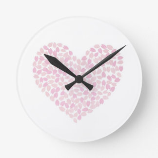 Cherry Blossom Heart Clocks