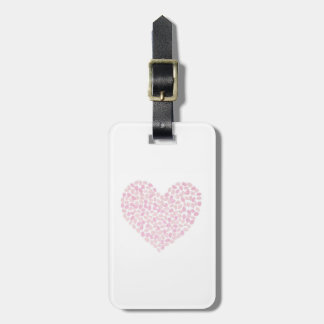 Cherry Blossom Heart Luggage Tag