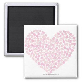 Cherry Blossom Heart Square Magnet