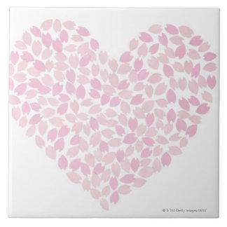 Cherry Blossom Heart Tile