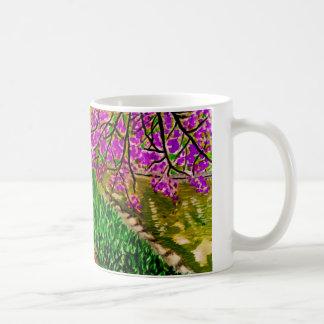 Cherry Blossom Impressionist Landscape on Mug
