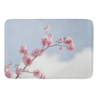 Cherry Blossom in the Sky Bath Mat