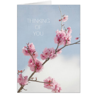 Cherry Blossom in the Sky Thinking of you Card