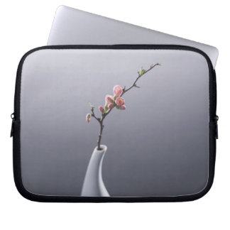 Cherry blossom in vase computer sleeves