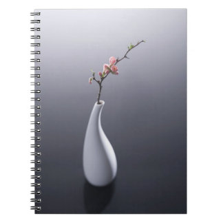 Cherry blossom in vase notebook