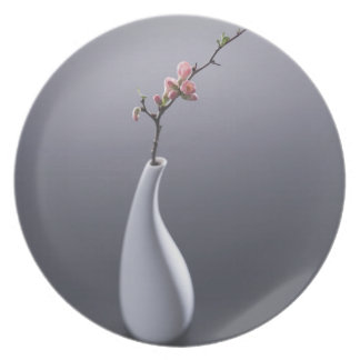Cherry blossom in vase plate