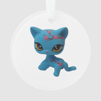 Cherry Blossom Kitty Ornament